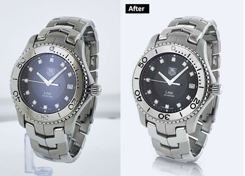 Watch photo retouching before and after