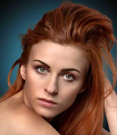 Model photo hair masking after effetcs